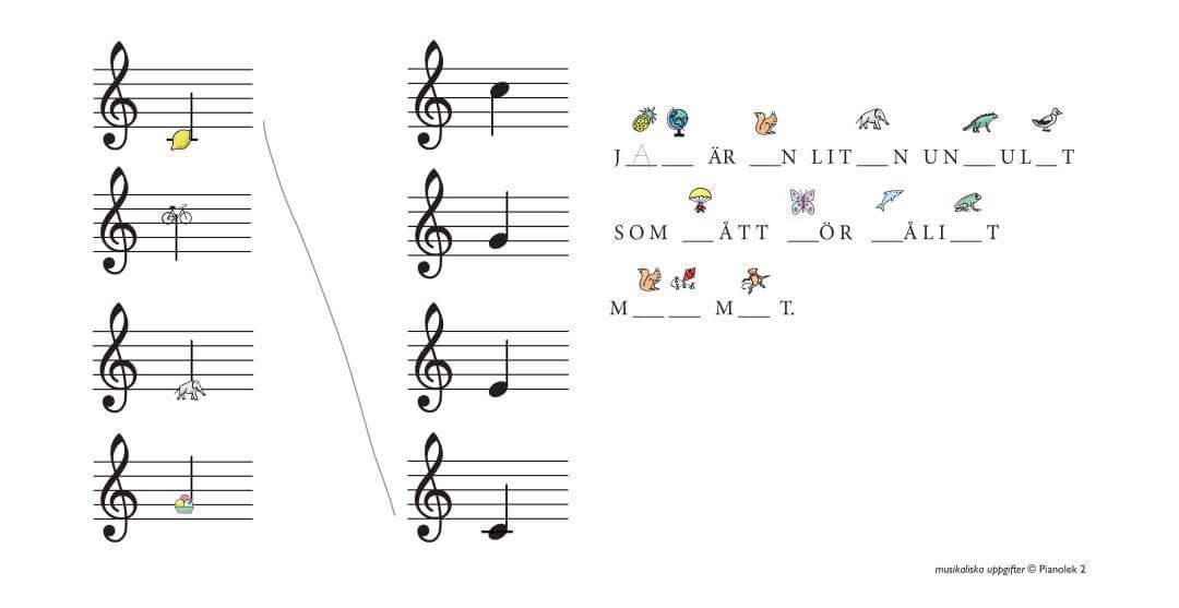 Laer dig noter piano barn
