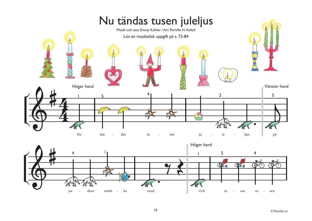 nu taendas tusen juleljus