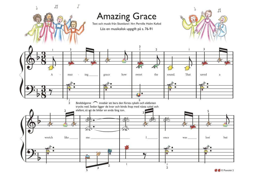 Spela piano amazing grace